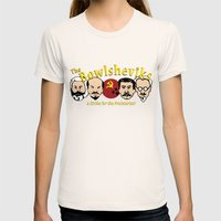 The Bowlsheviks (A Strike for the Proletariat!) Womens Fitted Tee Natural SMALL