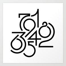 Numeric Art Print