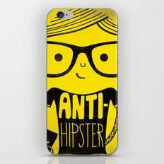 Anti-hipster - yellow iPhone & iPod Skin