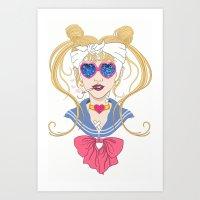 Sailor Moon After the Battle Art Print
