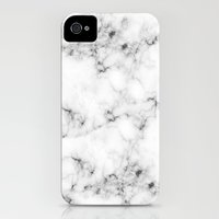 iPhone 4s & iPhone 4 Cases featuring Real Marble  by Grace