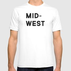 MID-WEST Mens Fitted Tee SMALL White