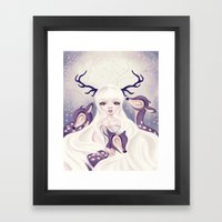 Deer: Protection Series Framed Art Print
