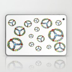 Peace Symbol in Flowers Laptop & iPad Skin