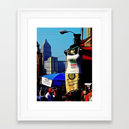 Strip District Model Framed Art Print