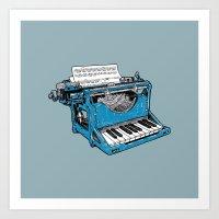 The Composition - Original Colors. Art Print