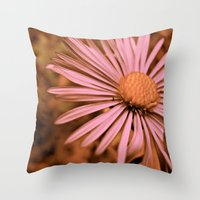 Pink As A Petal Throw Pillow