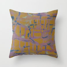Pastel Map Throw Pillow