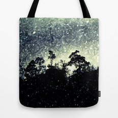 Wintery mystical landscape Tote Bag