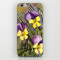 Pansies iPhone & iPod Skin
