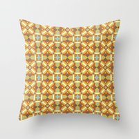 Ethnic Moroccan Motifs Seamless Pattern 6 Throw Pillow
