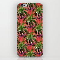 Flower Circle In Pink Gr… iPhone & iPod Skin
