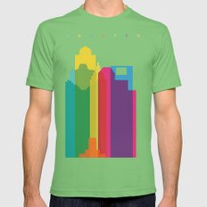 Shapes of Houston. Accurate to scale Mens Fitted Tee Grass SMALL