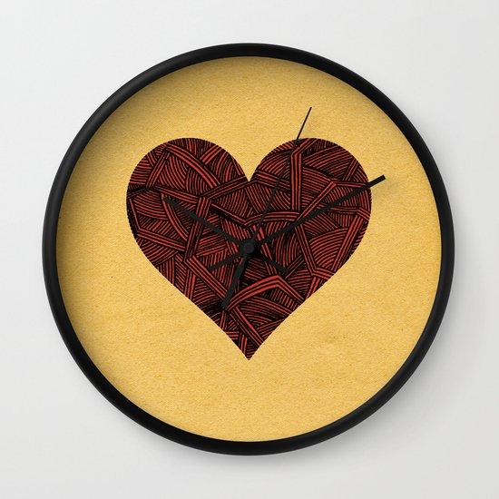 - heart line - Wall Clock