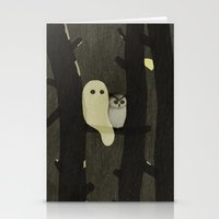 Little Ghost & Owl Stationery Cards