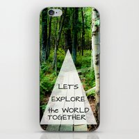 Let's Explore the World Together - Color iPhone & iPod Skin
