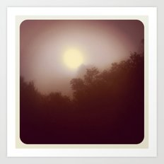 Foggy Autumn Morning Art Print