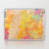 New York City Map Colore… Laptop & iPad Skin