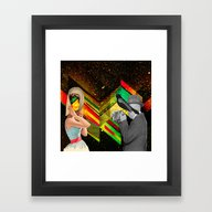 Retro Space Framed Art Print