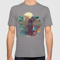 Panther Square Mens Fitted Tee Tri-Grey SMALL