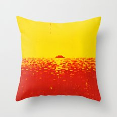 Sunset Pixels Throw Pillow