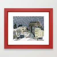Winter Town Framed Art Print