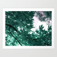 turquoise Art Prints featuring turquoise by Françoise Reina