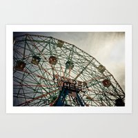 Coney Island Wonder Whee… Art Print