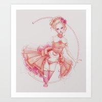 Rococo Ballerina Art Print