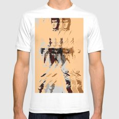 FPJ agent orange Mens Fitted Tee SMALL White