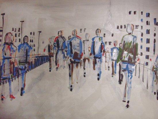 foot traffic 03 Art Print