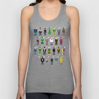 Pixel Supervillain Alpha… Unisex Tank Top
