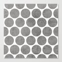 gray polka dots Canvas Print