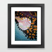 Moon Shiva Wishing Well Framed Art Print