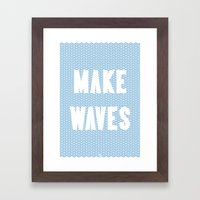 Make Waves Framed Art Print