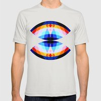 Lazar Mens Fitted Tee Silver SMALL