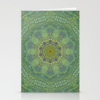 Liquid Green Mandala? Stationery Cards