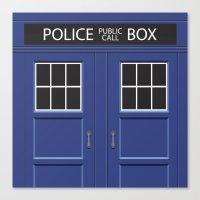 Tardis - Doctor Who Canvas Print