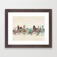 Baltimore Maryland Framed Art Print