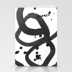 Black & White Abstract 3 Stationery Cards