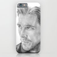 iPhone & iPod Case featuring Christian Bale Traditional Portrait Print by bianca.ferrando