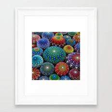 Jewel Drop Mandala Stone… Framed Art Print