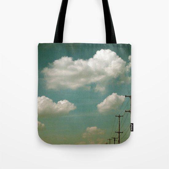Electric Blue Tote Bag