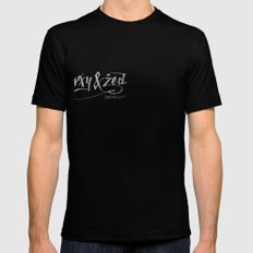 Handwriting: W, X, Y, & Zed Mens Fitted Tee Black SMALL