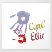 Carl & Ellie Art Print