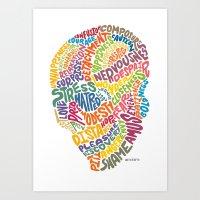 The inner workings of my mind! White! Art Print