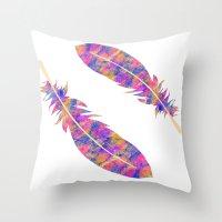 Feather III Throw Pillow