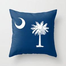 Flag of South Carolina - Authentic High Quality Image Throw Pillow