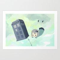 Tardis Sky Art Print