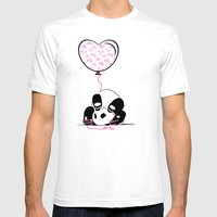 Lovely Panda Mens Fitted Tee White SMALL